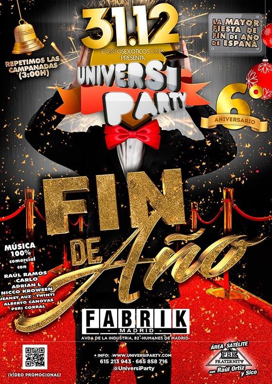 Universiparty Fin de Año en Fabrik
